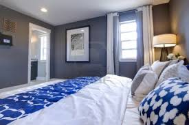 Navy Blue Wall Bedroom Blue Accent Wall Bedroom Beautiful Blue Star Fern Bedroom With