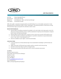 Example Server Resume by Resume For Food Server Free Resume Example And Writing Download