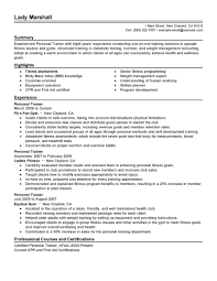 Sample Personal Resume by Best Personal Trainer Resume Example Livecareer