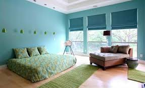 Bedroom Colors Ideas  Blue And Bright Lime Green Interior - Bedroom colors blue