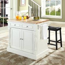 Kitchen Island With Chopping Block Top Crosley Kf300064wh Butcher Block Top Kitchen Island In White W 24