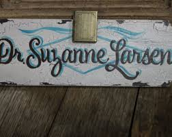 Custom Desk Name Plates by Personalized Custom Made Hand Painted 3x9 Name Plate Sign