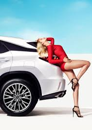lexus uk advert lexus rx featured in sports illustrated shoot with model hailey
