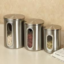 Clear Canisters Kitchen Trendy Kitchen Canisters Setshome Design Styling