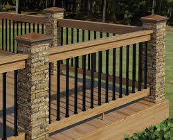 add your outdoor living space with deck railing ideas wooden deck