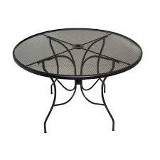 Mesh Patio Chair Meadowcraft Glenbrook Round Mesh Patio Dining Table Outdoor