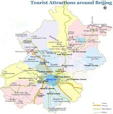 China Topographic Map by Beijing Tourist Map Beijing Maps China Tour Advisors