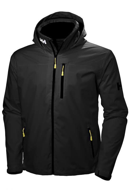 Helly Hansen Crew Hooded Jacket 33875 Black XL
