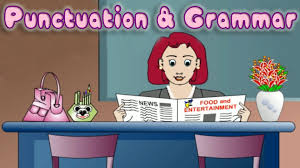 english grammar learn use of punctuation educational game for
