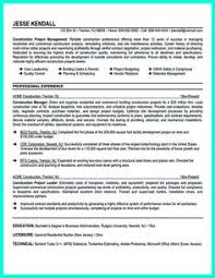Construction Management Resume Examples by Construction Manager Resume Page 1 Resume Writing Tips For All