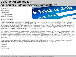 Cover letter sample for call center customer service representative     SlideShare