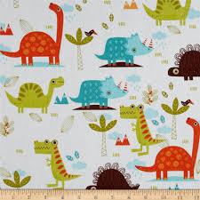 riley blake home decor dinosaur cream discount designer fabric