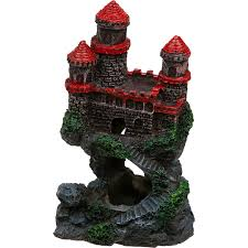 Small Castle by Penn Plax Mini Castle Aquarium Ornament Petco