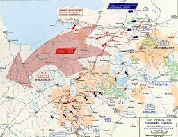 Map Of 1914 Europe by Map Of The Tannenberg Campaign 1914 Movements August 17 23 1914