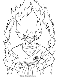 dragon ball af goku for dragon ball z coloring pages goku