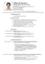 Format Of Resumes Resume Format Philippines Doc Augustais