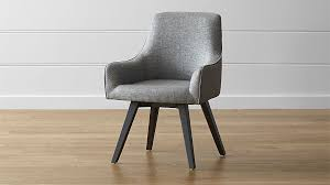 Upholstered Swivel Desk Chair by Harvey Chair Black Crate And Barrel
