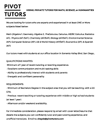 Tutoring Job Resume Private Tutor Resume Free Resume Example And Writing Download