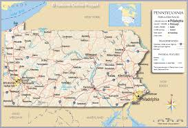 Time Zone Map Usa With Cities by Reference Map Of Pennsylvania Usa Nations Online Project