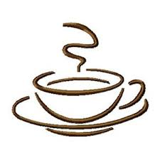 Coffee cup with steaming coffee