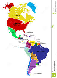Political Map Of Latin America by Map Of North America And South America My Blog