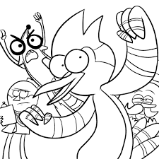 regular show coloring pages to invigorate to color page cool