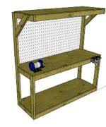 wall mounted workbench woodworking plans and information at