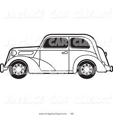 Old Ford Truck Coloring Pages - royalty free stock vintage car designs of coloring pages