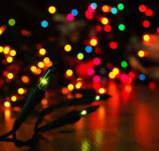 Beautiful Lighting Christmas Lights Create A Beautiful Rainbow A Pleather Of Hues In