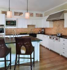 Brick Tiles For Backsplash In Kitchen by Kitchen Brick Backsplashes For Warm And Inviting Cooking Areas