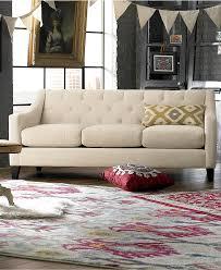chloe velvet tufted sofa living room furniture collection