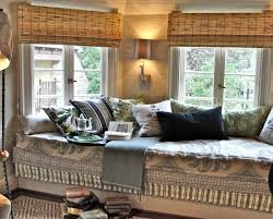 captivating bay window seat with white accentuate also comfy