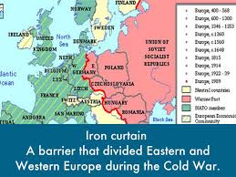 Map Of Europe During The Cold War by Cold War By Angie Ramirez