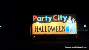 halloween city party city halloween great mobile billboard art