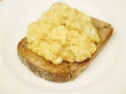 Image result for scrambled egg on toast