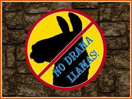 RE No Drama Llamas Sign - Free