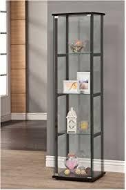 Ikea Glass Shelves by Amazon Com Ikea Home Indoor Glass Door Cabinet Black Brown