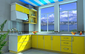 good color for small kitchen with yellow and gray color schemes