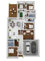 Plans Design by 50 Four U201c4 U201d Bedroom Apartment House Plans 3d Apartments And 3d
