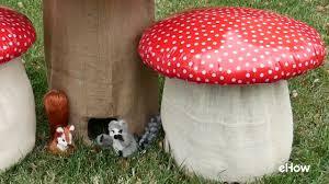 Mushroom Home Decor How To Make A Mushroom Stool Youtube