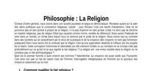 Cours Philosophie Gratuit   T  l  charger des Fiches de Philo PDF Doc Etudiant Cours de Philosophie   Religion