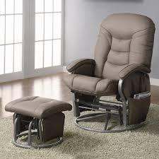 Upholstered Glider Furniture Wonderful Hoop Back Glider Rocker And Ottoman Plus Rug