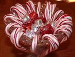 Simple Christmas Candy Cane Centerpiece entertaining.about.com