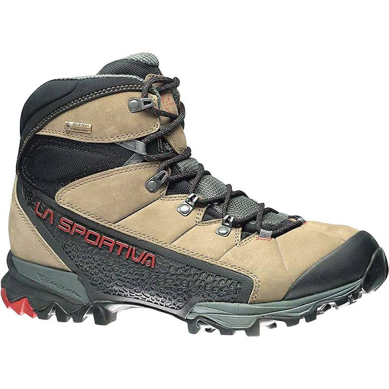 La Sportiva Nucleo High GTX Hiking Shoes Taupe/Brick 41 14U-801305-41