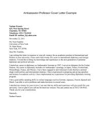Resume Cover Letter Examples Cover Letter For Professor Position Sample Choice Image Cover