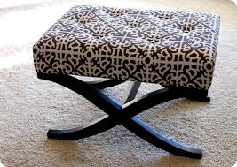 remodelaholic no sew way to recover an ottoman