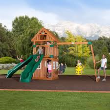 Cedar Playsets Outing Wooden Swing Set Playsets Backyard Discovery