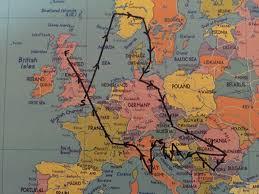 Mapping A Route by Interrail Route Idea Interrail Trip Pinterest Interrail Trips