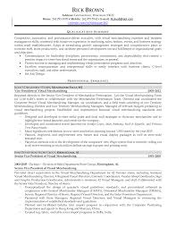 Qualifications Summary Resume Example by Download Visual Merchandising Resume Sample Haadyaooverbayresort Com