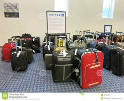 United Airline Baggage by Lost Bags At United Airlines Luggage Counter Editorial Stock Image